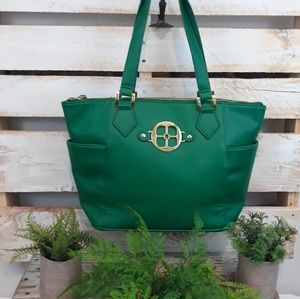 JOY IMAN GREEN SHOULDER BAG